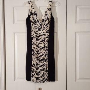 WHBM instantly slimming printed dress EUC